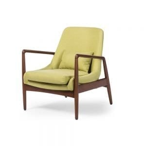 Carter Danish Modern Lounge Chair Green