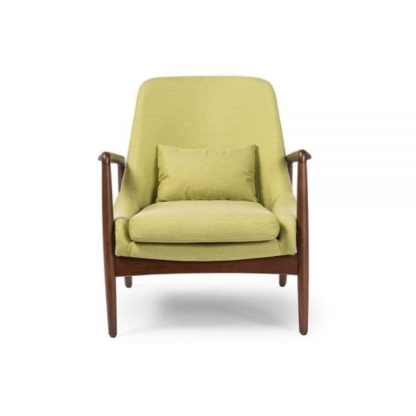 Carter Danish Modern Lounge Chair Front