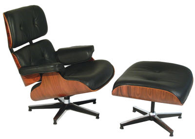 Eames Lounge Chair with Molded Rosewood