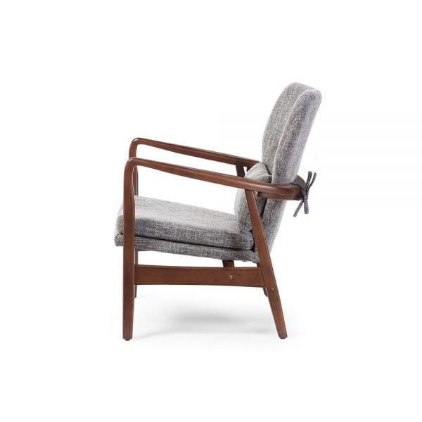 Grey Finn Juhl Model 1 Chair Side