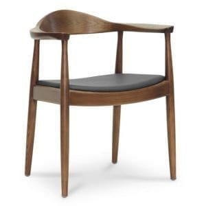 Wegner Round Chair in Dark Brown Wood