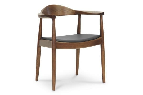 Wegner Round Chair in Dark Brown Wood