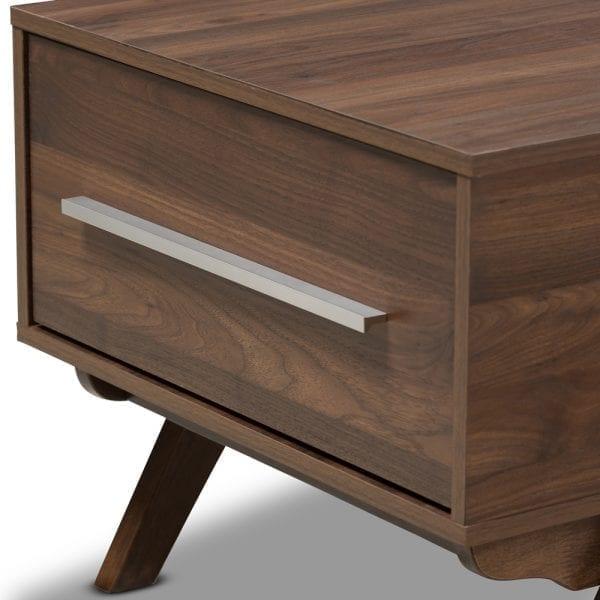 Ashfield Coffee Table Walnut Drawer Detail