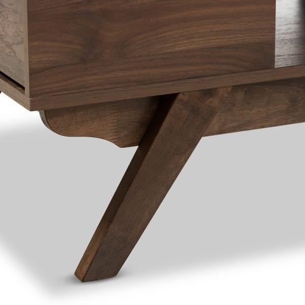 Ashfield Coffee Table Walnut Leg Detail