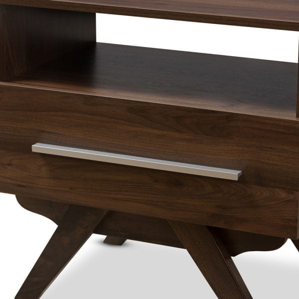Ashfield Nightstand Walnut Front Detail