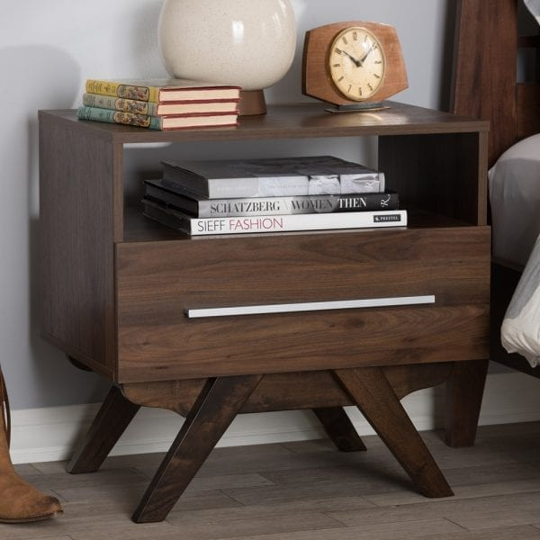 Ashfield Nightstand Walnut Lifestyle