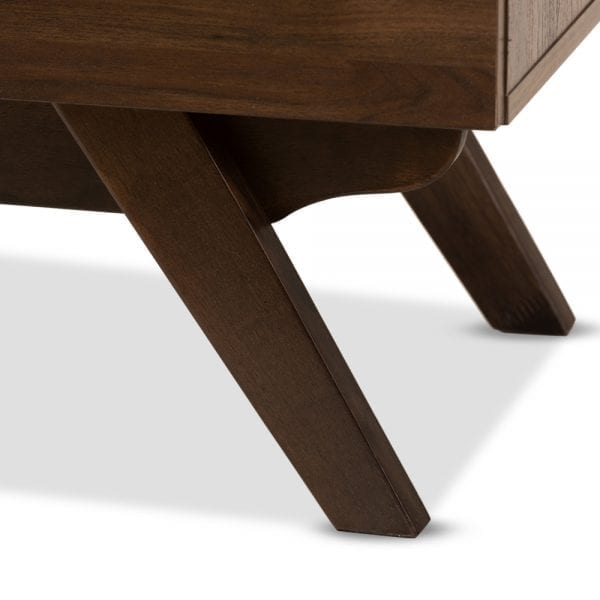 Auburn Nightstand Walnut Leg Detail