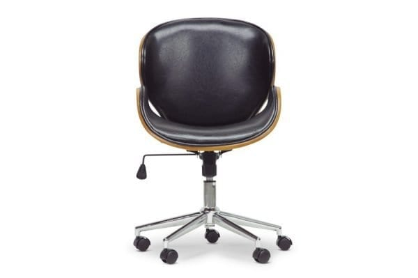 Bruce Bent Plywood Office Chair Black Front