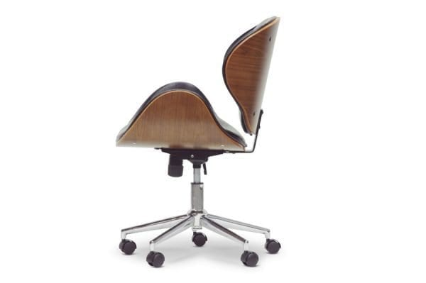 Bruce Bent Plywood Office Chair Black Side
