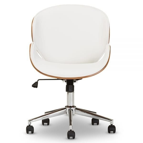 Bruce Bent Plywood Office Chair White Front