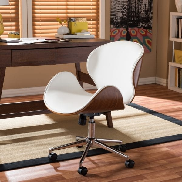 Bruce Bent Plywood Office Chair White Office