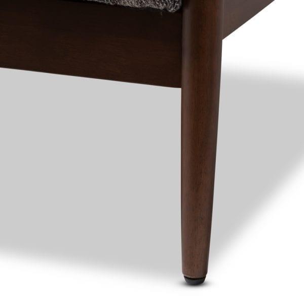 Carter Danish Modern Loveseat Leg Detail