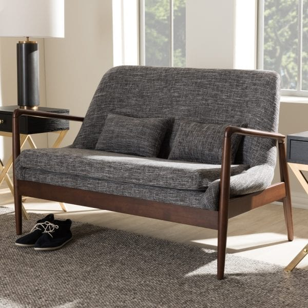 Carter Danish Modern Loveseat Living Room