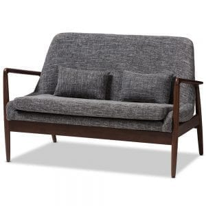 Carter Danish Modern Loveseat Main