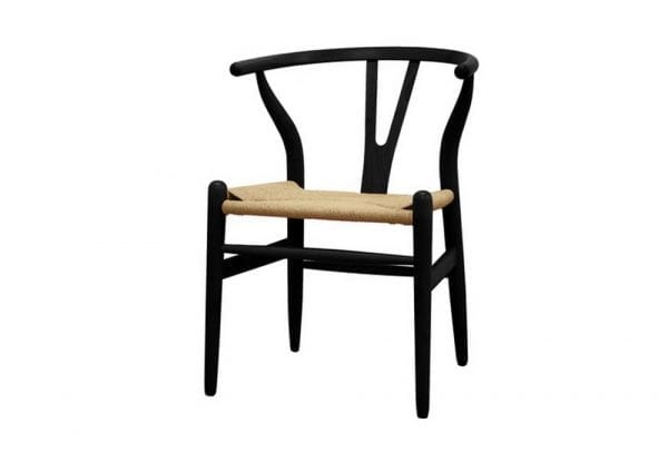 Mid Decco Wishbone Chair Black