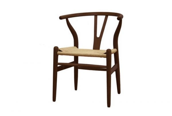 Mid Decco Wishbone Chair Brown