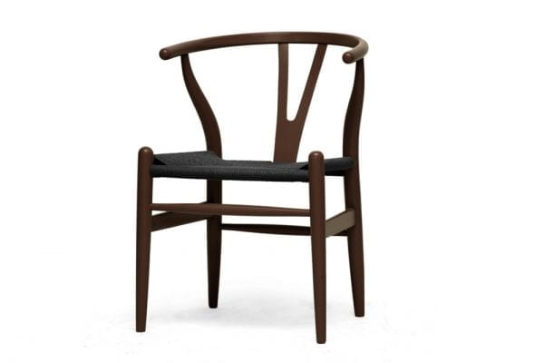Mid Decco Wishbone Chair Brown and Black