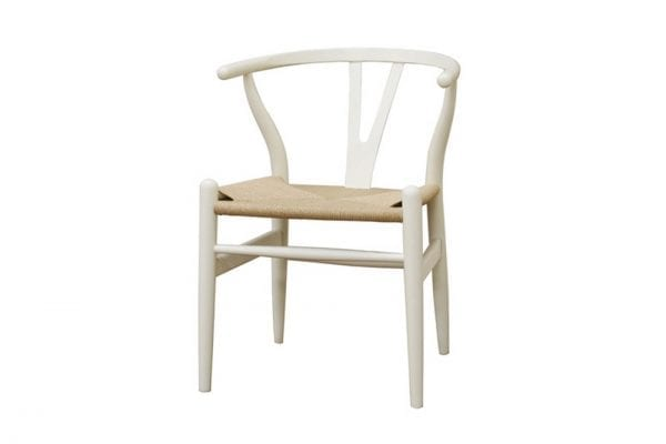 Mid Decco Wishbone Chair White