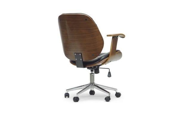 Rathburn Modern Office Chair Black Back