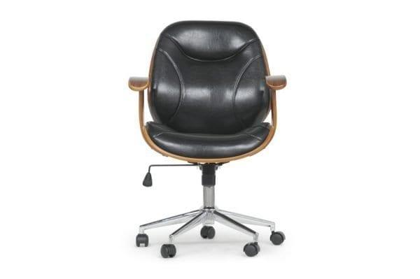 Rathburn Modern Office Chair Black Front