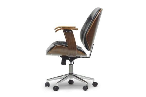 Rathburn Modern Office Chair Black Side