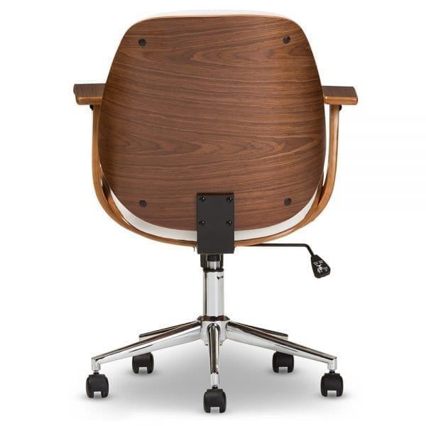 Rathburn Modern Office Chair White Back