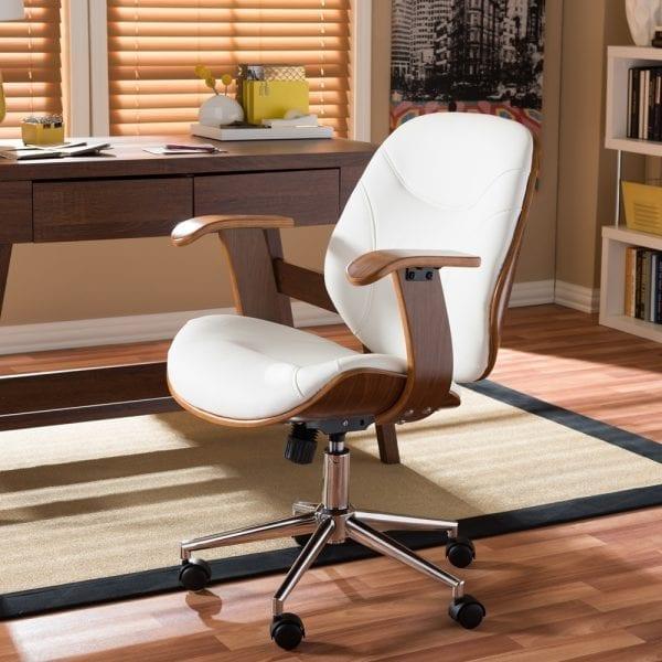 Rathburn Modern Office Chair White Office