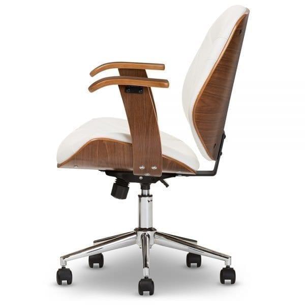 Rathburn Modern Office Chair White Side