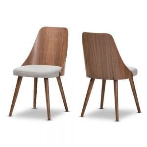 Romily Bent Wood Dining Chairs Light Grey Main