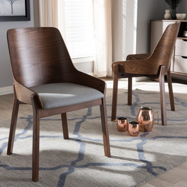 Rye Bent Wood Dining Chairs Light Grey Lifestyle