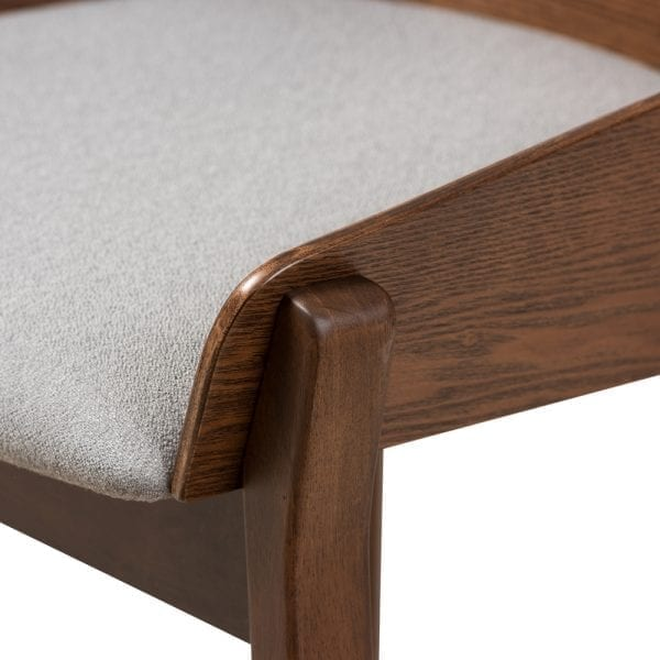 Rye Bent Wood Dining Chairs Light Grey Seat Detail