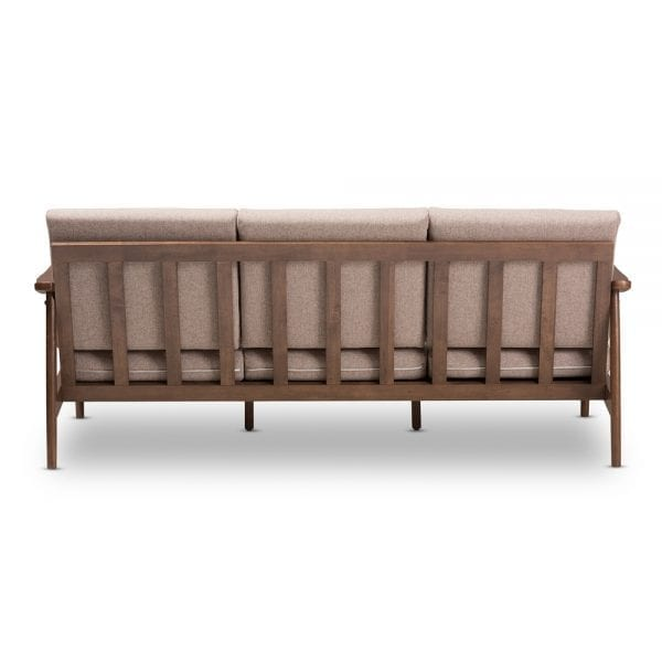 Venza Danish Modern Sofa Brown Back