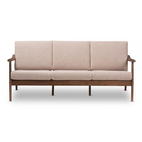 Venza Danish Modern Sofa Brown Main