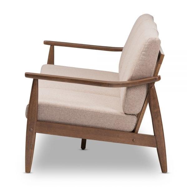 Venza Danish Modern Sofa Brown Side