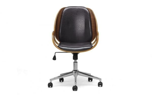 Watson Modern Office Chair Black Front