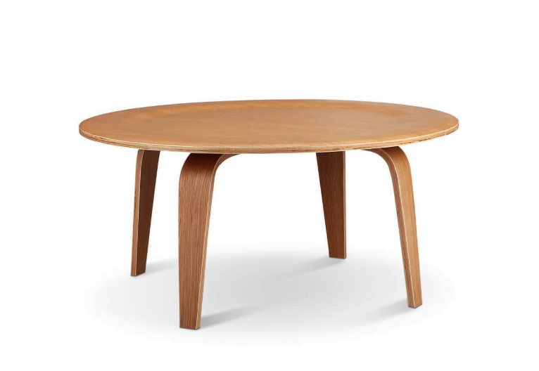 Eames-Style Molded Plywood Coffee Table by Eternity Modern