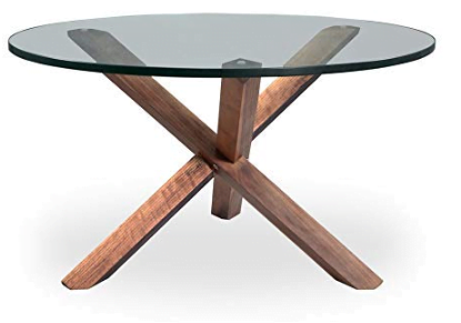 Kardiel CT-Walnut Tripod Mid-Century Modern Coffee Table, Wood