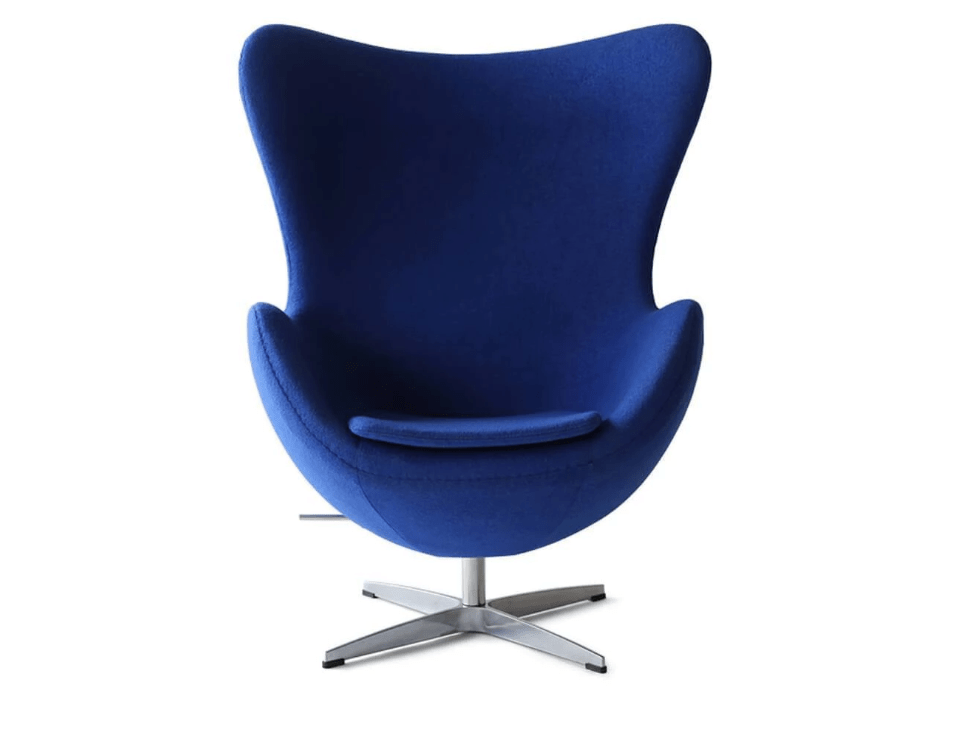 Arne Jacobsen Egg Chair in Blue by Eternity Modern