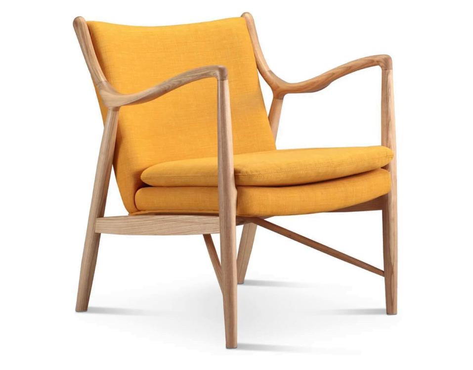 Finn Juhl 45 Chair in Orange
