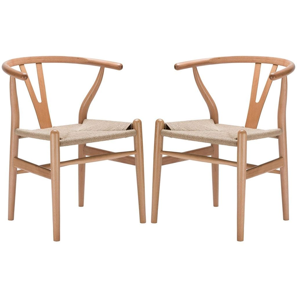 Poly and Bark Weave Chair in Natural (Set of 2)