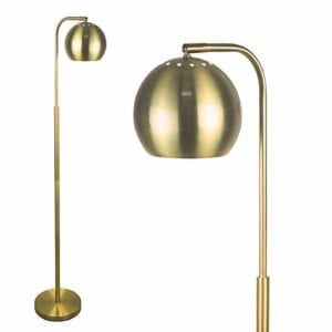 Globe Floor Lamp - Brushed Brass Finish