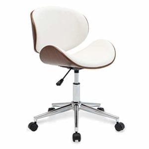 Belleze Swivel Desk Chair, White