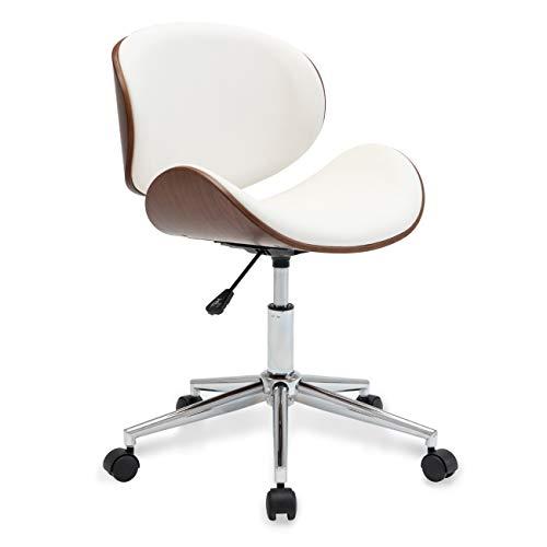 Belleze Swivel Desk Chair, White