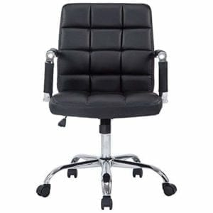 Manchester Mid-Century Modern Office Chair, Vegan Leather