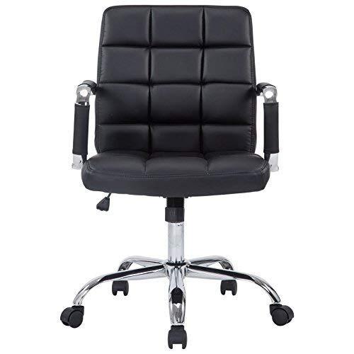 Manchester Mid-Century Modern Office Chair, Vegan Leather