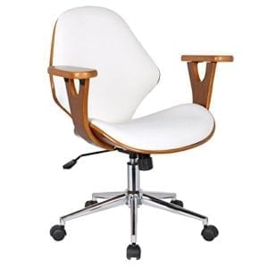 Lilian Office Chair, Mid Century Modern Design with Arm Rests