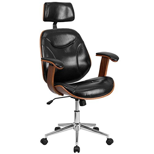 Executive Ergonomic Wood Swivel Office Chair