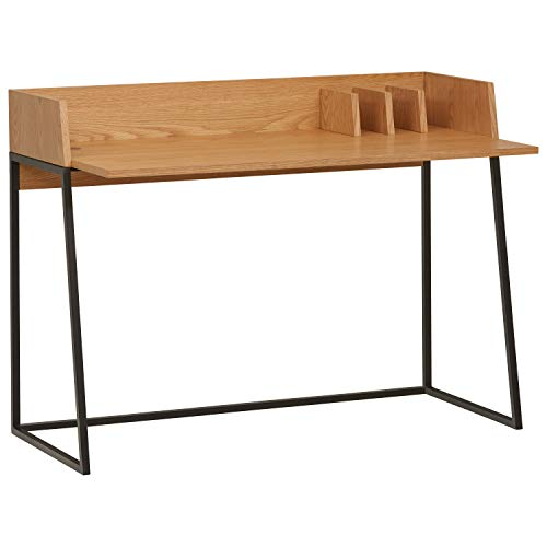 Rivet Mid-Century Desk, Natural
