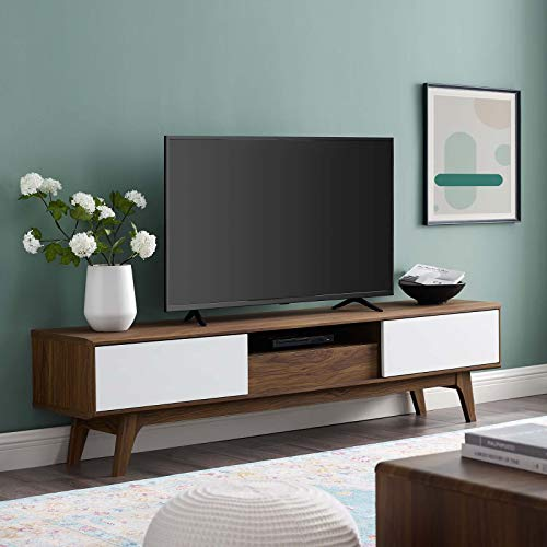 "Envision 70"" Mid-Century Modern Low Profile TV Stand"