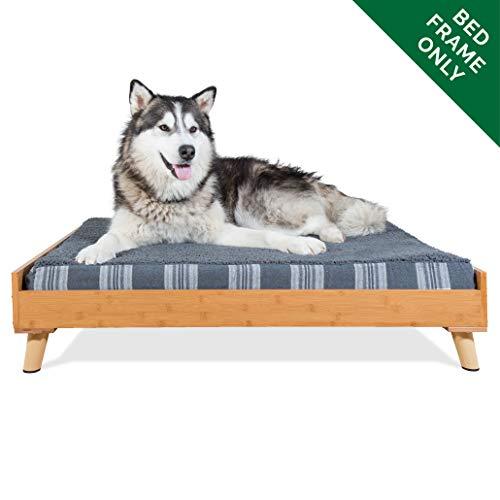 Mid Century Modern Bamboo Pet Dog Bed Frame